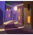Night city street vector