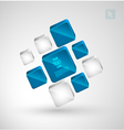 Abstract cubes with place for text vector
