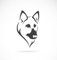 Image of an german shepherd face vector