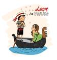 Love in venice vector
