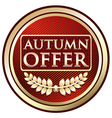 Autumn offer red label vector