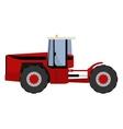Big red tractor vector