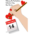 A love letter for valentines day vector