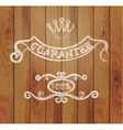Design elements and a wooden background vector
