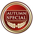 Autumn special red label vector