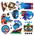 Psychology - abstract symbols vector