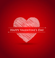 Scribble heart happy valentines day vector