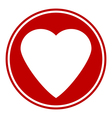 Love sign button isolated vector