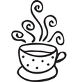 Cup of coffee with swirls vector