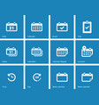 Calendar icons on blue background vector