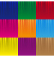 Set of various color striped abstract pattern vector