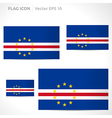 Cape verde flag template vector