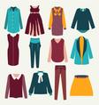Fashion flat female clothing vector