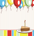 Image holiday birthday cake vector