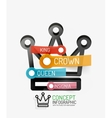 Crown infographics line style and keys vector