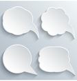 Abstract white speech bubbles set vector