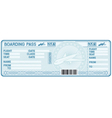 Airline boarding pass tickets vector