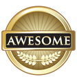 Awesome gold label vector