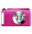 A pink camera vector