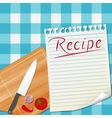 Kitchen recipe design background vector