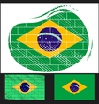 Scratched flag of brazil vector