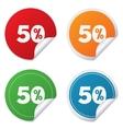 50 percent discount sign icon sale symbol vector