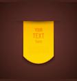 Yellow advertising sticker vector