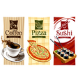 Template designs of food banners vector