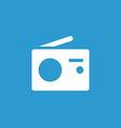 Radio icon white on the blue background vector
