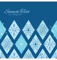 Abstract blue doodle rhombus horizontal vector