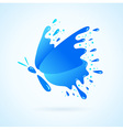 Butterfly water aqua blue splash drops vector