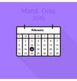 Flat holiday calendar icon vector
