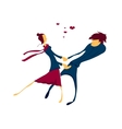 Couple in love dancing vector