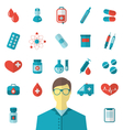 Collection trendy flat medical icons isolated on vector