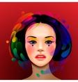 Asian woman beauty face portrait vector