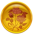 Button with sign of rose bouquet vector