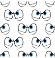 Seamless pattern of cross angry eyes vector