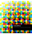 Abstract colorful background from square parts vector