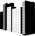 Buildings design vector