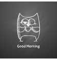 Owl with cup vector