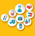Set medical icons for web design - vector