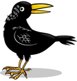 Crow or raven bird cartoon vector