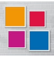Realistic picture frames options banners vector