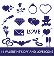 Valentines day and love icons eps10 vector
