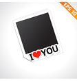 Photo frame with i love you text - - eps10 vector