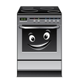 Fun modern stove kitchen appliance vector