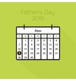 Flat holiday calendar icon vector