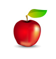 Glossy red apple vector
