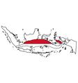 Gharial indonesia vector