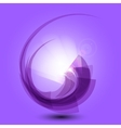 Abstract purple background with light vector